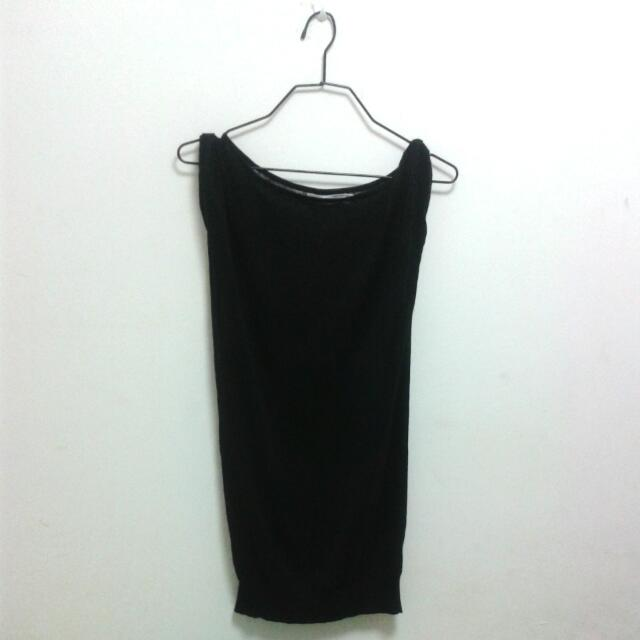 BYSI Black Knitted Sheer Top