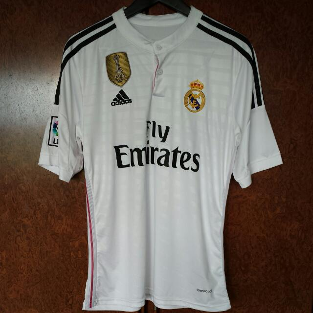 best service 27b88 a3fa8 Real Madrid 14/15 Home Jersey With Fifa Club World Cup Badge