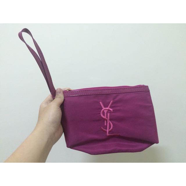 YSL化妝包粉色