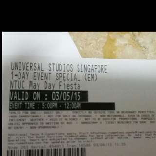 USS May Day Ticket