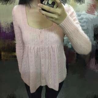 粉紅娃娃針織裝