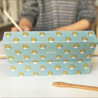 韓國文具🇰🇷炸雞啤酒紙製筆盒