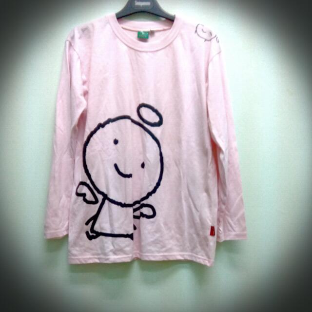 九成新粉色小天使上衣