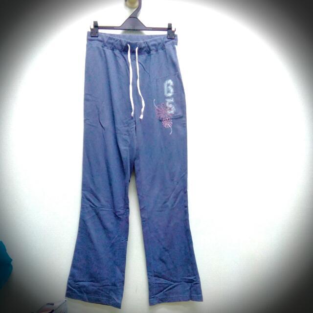 八成新藍色棉褲