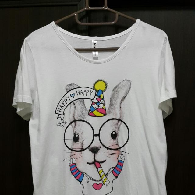 可愛二手大眼鏡兔