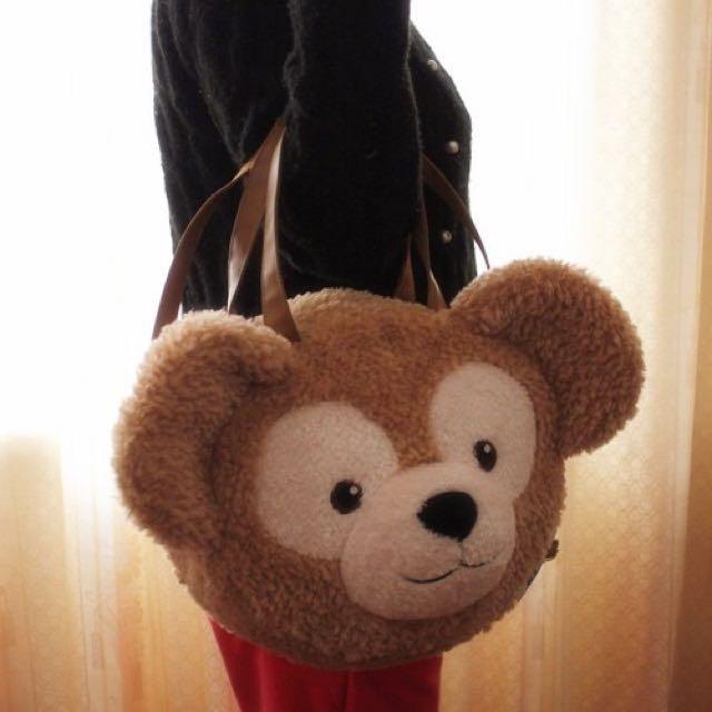 東京迪士尼!正版DUFFY 達菲 雪莉梅 大包包 斜挎包 後背包 送限量迪士尼袋子