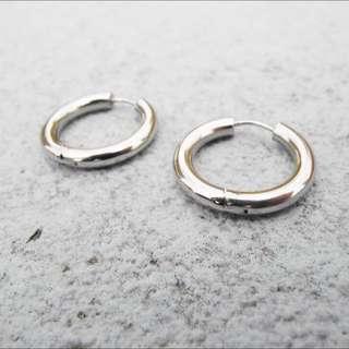 醫療鋼 耳環(一對)『銀、金、黑 三色』