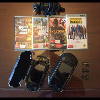 2 PSP 1000 With Games