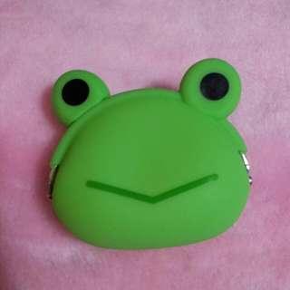<A18>大眼青蛙矽膠造型零錢包
