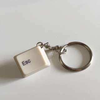 (手工)鍵盤鑰匙圈-Esc