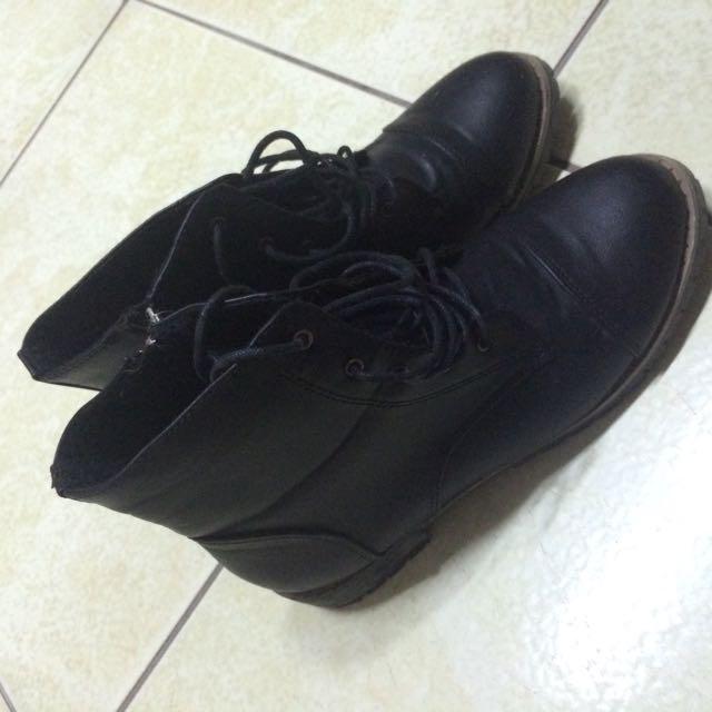 🍒黑色踝靴