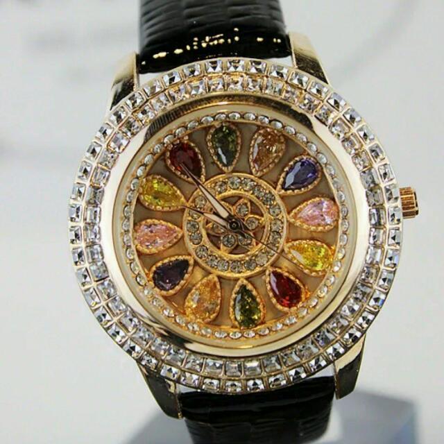 韓國水鑽石英手錶