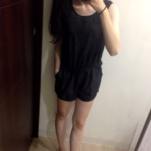 黑色連身褲