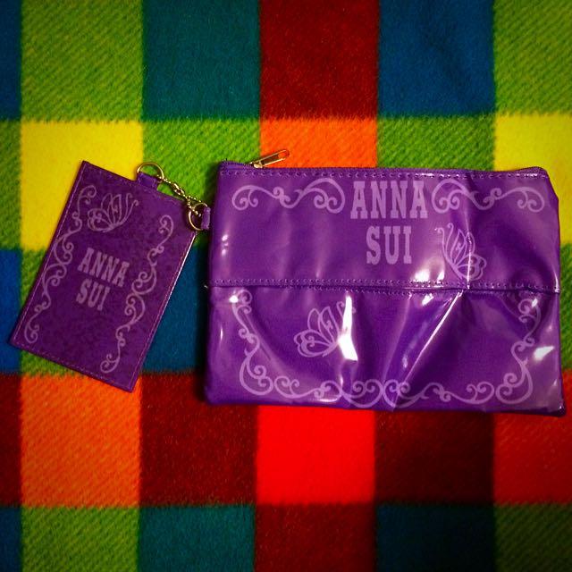 Anna Sui 化妝包加票卡夾