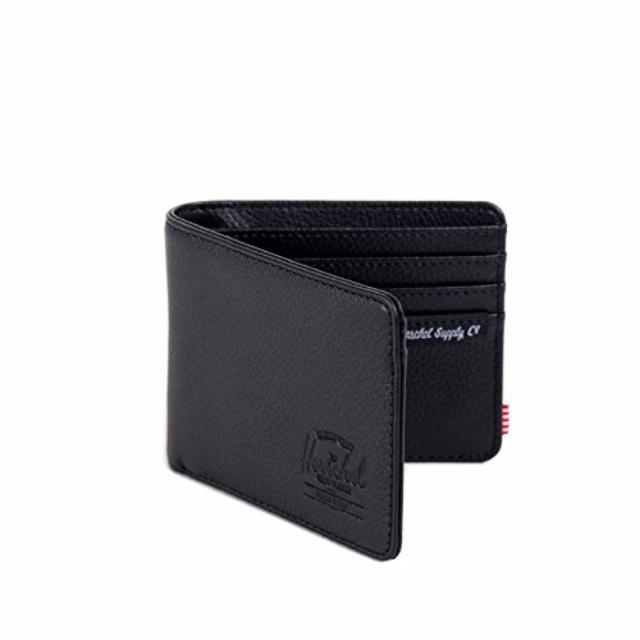 dbb094e107ed BNIB  Herschel Supply Co. Hank Wallet (Black Pebble Leather)