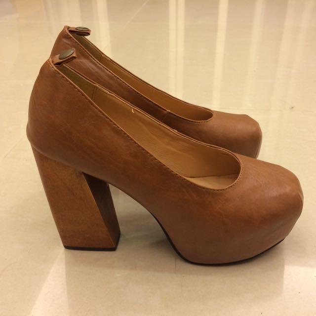 CHARMING Girl 復古粗跟鞋(全新)