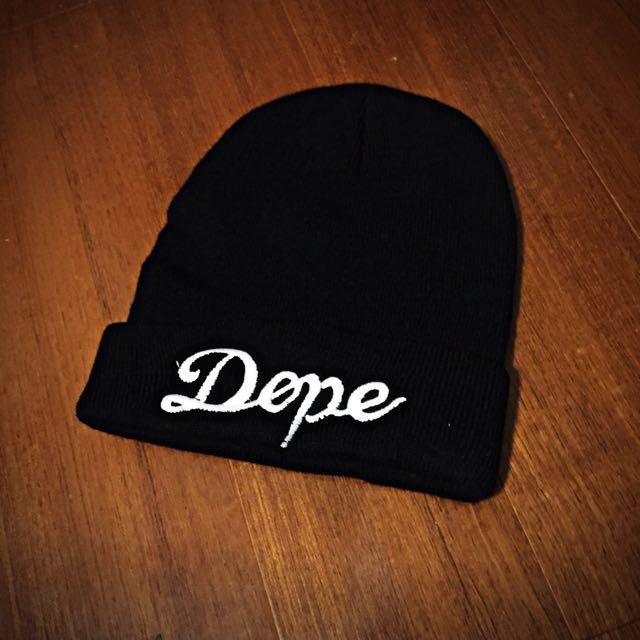 待匯款)正品Dope毛帽
