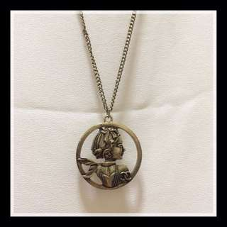 [Brand New!] Vintage long necklace with pendant