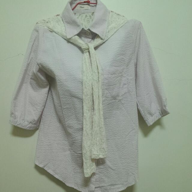 質感蕾絲襯衫