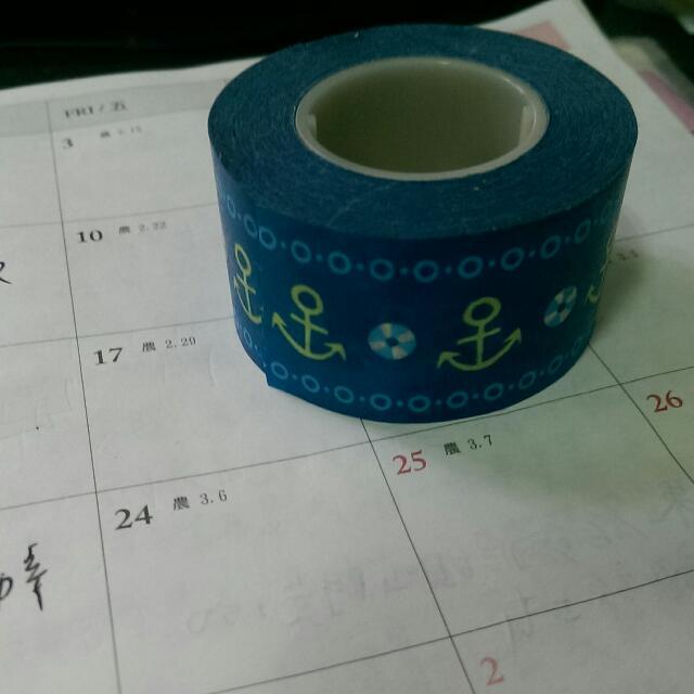 含運_海洋藍船錨紙膠帶