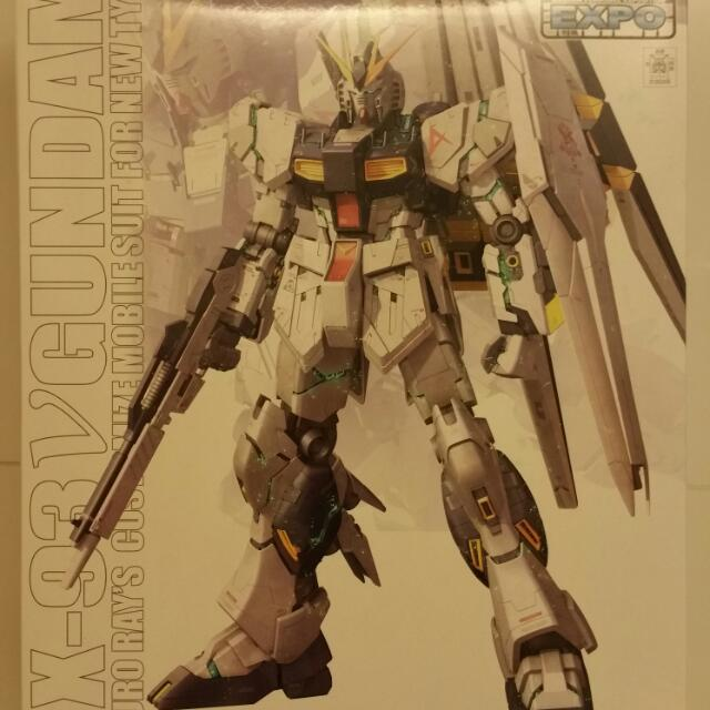 Gunpla Expo 2014 Limited MG Nu V Gundam Mechanical Clear Ver