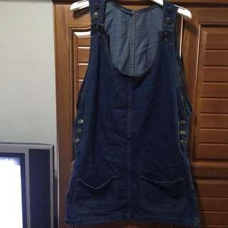 (售出 )全新牛仔吊帶裙
