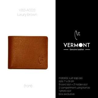 Dompet Kulit VERMONT V83-A003 luxury Brown