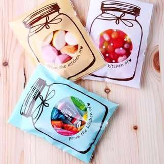 Jar Favor Plastic Bag 100pcs
