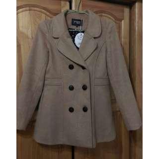 全新 專櫃 young 羊毛排釦大衣外套
