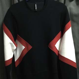 Authentic Neil Barrett Colorblock Runway Boxy Sweater