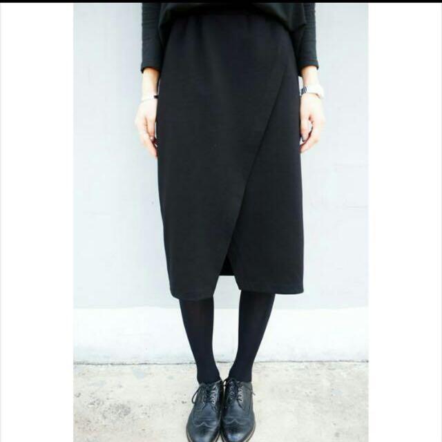 黑色開衩裙子✨全新