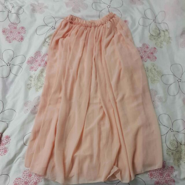 《全新免運》粉色雪紡長裙