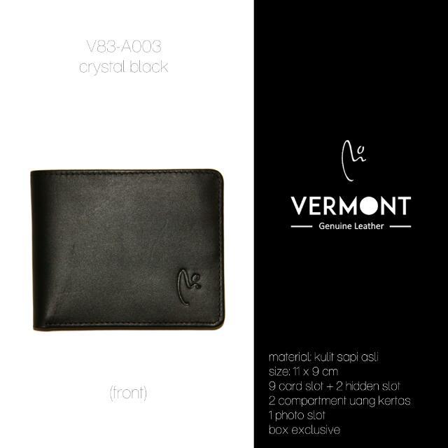 Dompet Kulit VERMONT V83-A003 Crystal Black