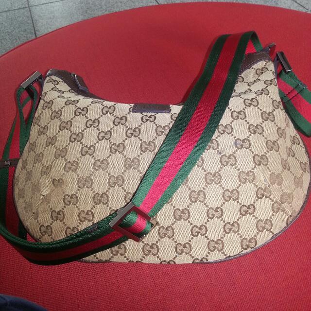 628781475bb Gucci Half Moon Monogramme Sling Bag