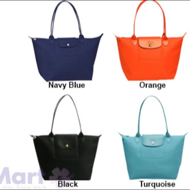 Longchamp Planetes Large Long Handle In Navy Blue