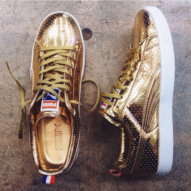4b7ccaade76 (reduced Price) Puma CLYDE X UNDFTD GAMETIME PROMO Size 8US METALLIC GOLD  354273-01 undefeated