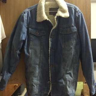 日本帶回 復古 街頭 古著 水洗 鋪棉 牛仔外套 XL