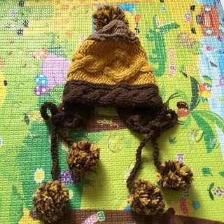 日系混色編織毛帽~隨便賣