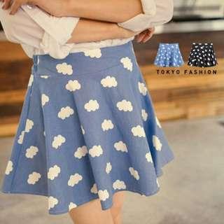 *全新轉賣* 東京著衣 雲朵彈性A字圓裙 藍色