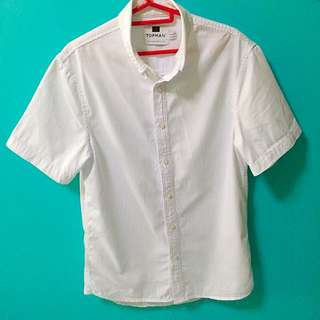 [BN] Authentic Topman Short Sleeve Shirt (white)