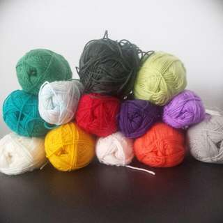 8ply Wool / Yarn - 13 Colours