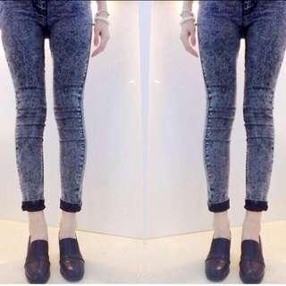 Topshop Acid Wash Leigh Jeans