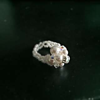 Hand Made Swarovski Beaded Ring