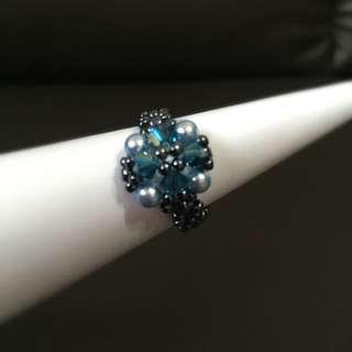 Hand Made Swarovski Crystal Ring