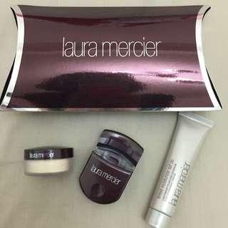 (保留)Laura Mercier透明蜜粉+隔離霜+睫毛夾