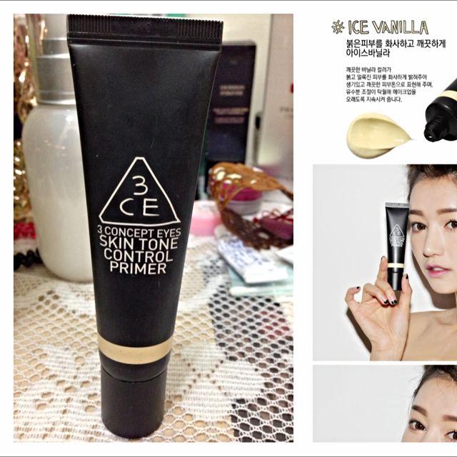 3CE保濕控油妝前乳(黃)