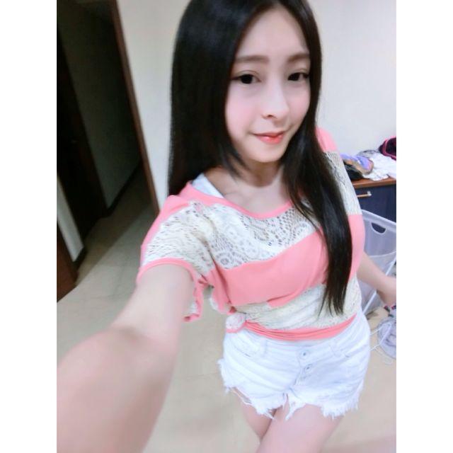 (降!)東京著衣粉紅網狀上衣