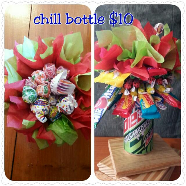 Chill Bottle Candy Bouquet