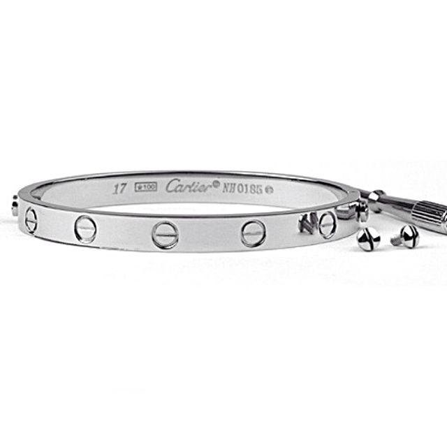 Used Stainless Steel Cartier Love Bangle Silver