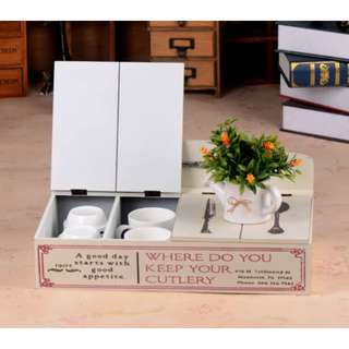 C2434 BRAND NEW SHABBY CHIC VINTAGE HOME DECOR PAJANGAN DEKORASI RUMAH Cutlery Box